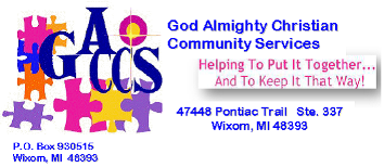 Logo, God Almighty Christian Community Services - Biblical Counseling
